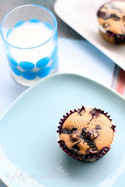 Gluten-Free Goddess Blueberry Muffins with Almond Flour