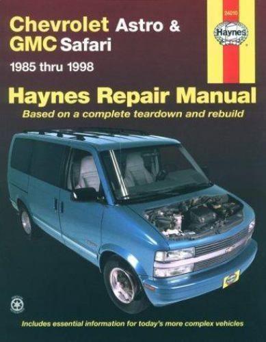 Haynes Automotive Repair Manual Chevrolet Astro And Gmc Safari