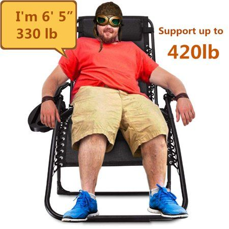 Oversize Supports 400 Lbs Extra Wide Zero Gravity Chair With