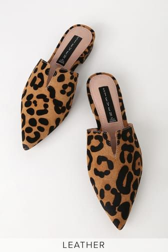 Lauryn Leopard Pony Fur Pointed Toe