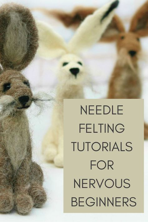 Easy needle felting tutorials, patterns and videos from Lincolnshire Fenn Crafts Wool Needle Felting, Needle Felting Tutorials, Needle Felted Animals, Wet Felting, Felt Animals, Felted Wool, Felt Diy, Felt Crafts, Fabric Crafts