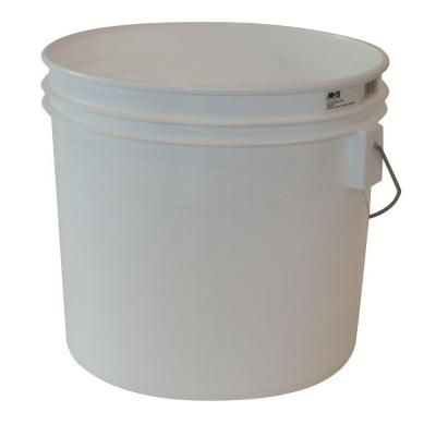 Argee 3 5 Gal White Bucket 10 Pack Plastic Pail Bucket Plastic Buckets