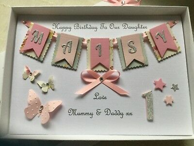 Personalised Boxed Card Girls 1st Birthday Daughter Granddaughter First 1 2 3 4 Ebay First Birthday Cards 1st Birthday Cards Handmade Birthday Cards