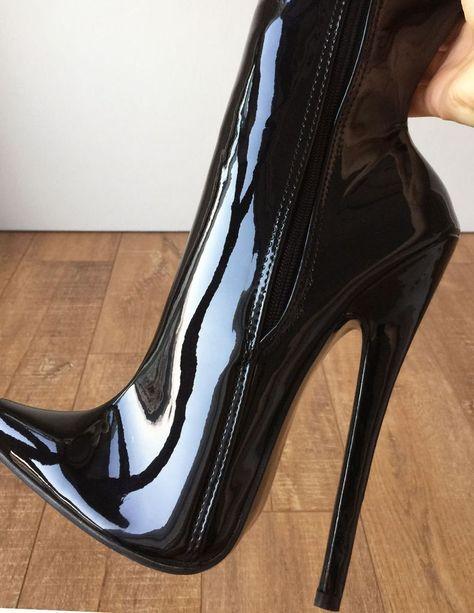 Ultra Plateau Lack Stiefel Gr. 43 44 mit 23 cm extreme high heels   hothighheelsgirls  2a521b8796c6b