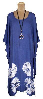 LONG TIE DYE Cover up Kaftan Beach Dress Boho Size 18 20 22 24 26 28 30 32