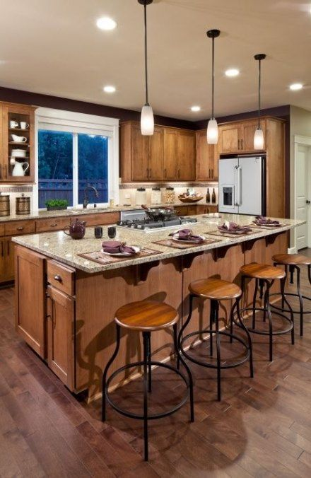 New Kitchen Island With Seating Stove Interior Design 61 Ideas Kitchen Layout Kitchen Island With Cooktop Kitchen Island With Seating