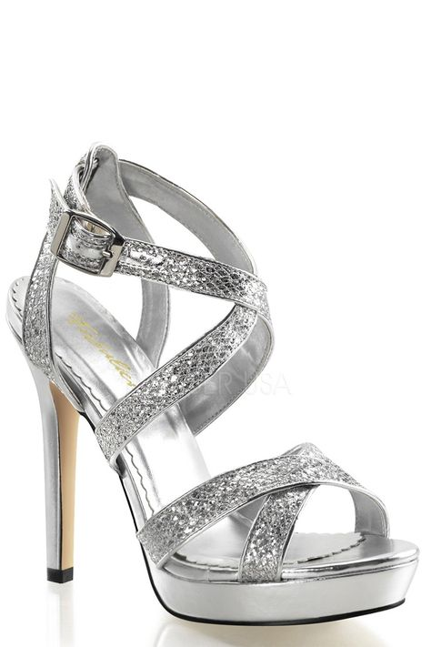 ded827deb13 Buy Silver Criss Cross Strappy Heels Glitter with cheap price and high  quality Heel Shoes online store which also sales Stiletto Heel Shoes