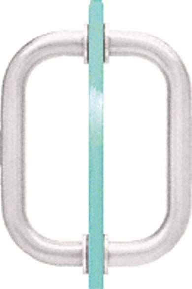 "CRL Chrome 8/"" BM Series Tubular Back-to-Back Pull Handle"