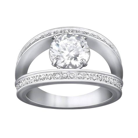 Princess Kylie Clear Cubic Zirconia Crown Shaped Designer Ring Rhodium Plated Sterling Silver