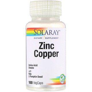 Solaray Zinc Copper 100 Vegcaps Vitamins Solaray Vitamins Vitamin D
