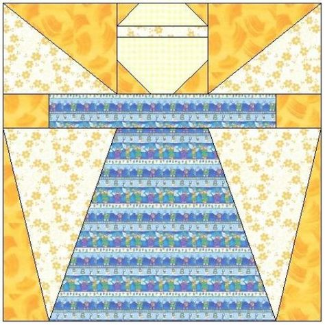 ALL STITCHES - ANGEL PAPER PIECING QUILT BLOCK PATTERN .PDF -001A