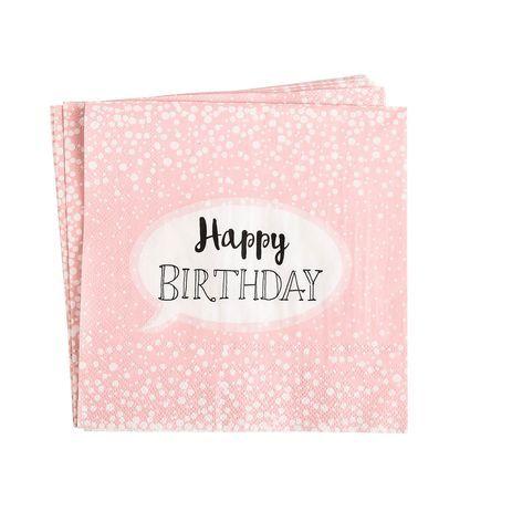 Serviette Birthday 20 Stuck Fsc Mix Altrosa Altrosa Tischdeko Papier