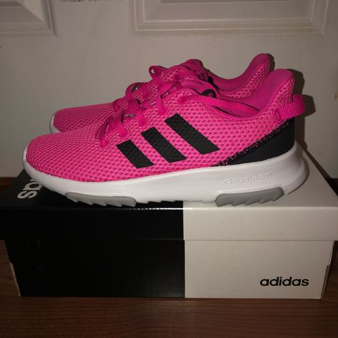 adidas Shoes | Nwt Adidas Cf Racer Tr K Hot Pink Sneakers