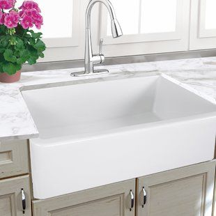 32 Inch Farmhouse Sink White Wayfair Farmhouse Sink Kitchen White Farmhouse Sink Farmhouse Kitchen