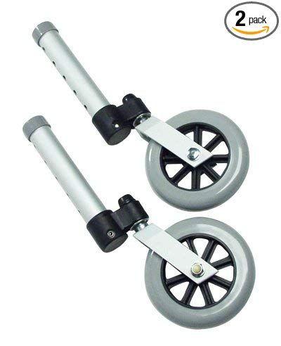 Lumex 603850a Swivel Walker Wheel 5 Diameter Aluminum Pack Of 2 Review Replacement Wheels Swivel Wheels Swivel