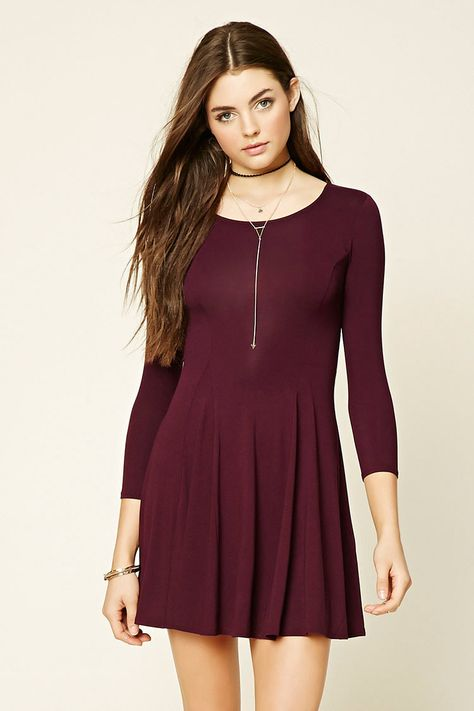 7ce86c07aedd Lace-Up Fit and Flare Dress