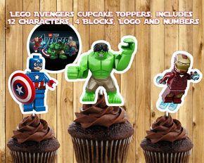 12 HULK Edible Icing Image Birthday Cupcake Decoration Cake Toppers