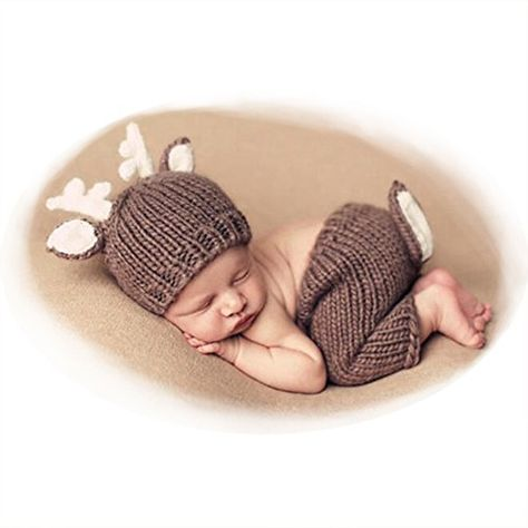 Newborn Baby Photography Props Outfits Lovely Boy Crochet Knitted Hat Pant Girl Click ...