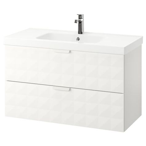 Godmorgon Odensvik Meuble Lavabo 2tir Resjon Blanc Ikea