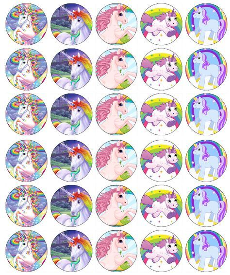 UNICORN AND FAIRY EDIBLE WAFER BIRTHDAY PARTY CAKE DECORATION IMAGE TOPPER