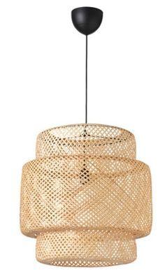 Boho Lighting, Basket Lighting, Pendant Lighting, Ikea Pendant Light, Ikea Lighting, Salon Lighting, Pendant Lamps, Rattan Light Fixture, Dining Room Light Fixtures