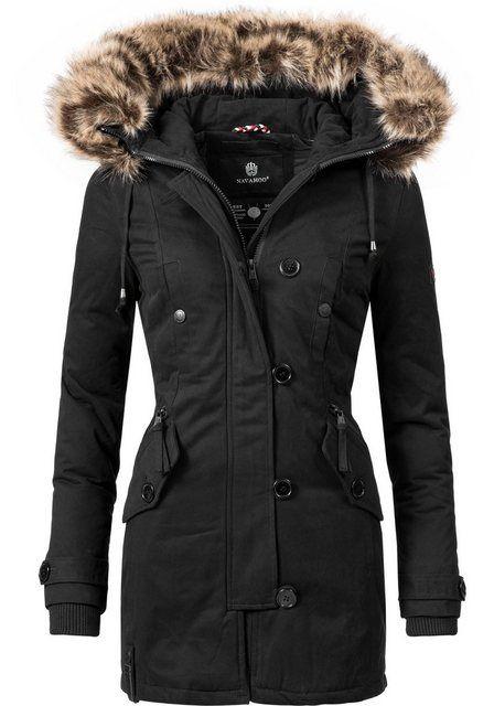 Marikoo Damen Designer Winter Jacke warme Winterjacke Parka
