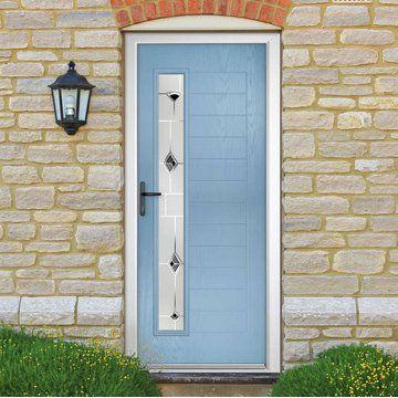 super popular f0294 54e23 Newhaven Left Composite External Door - Shown in Duck Egg ...