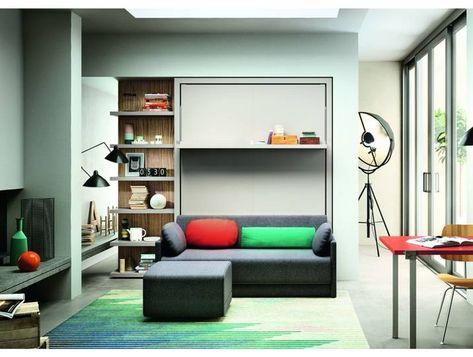 Schrankbett Mit Sofa Clei Oslo 173 Matratze 160 X 200 Home Decor