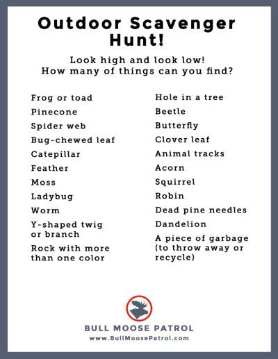 Scavenger Hunt List >> Camping Scavenger Hunt List Ideas Scavenger Hunt Camping