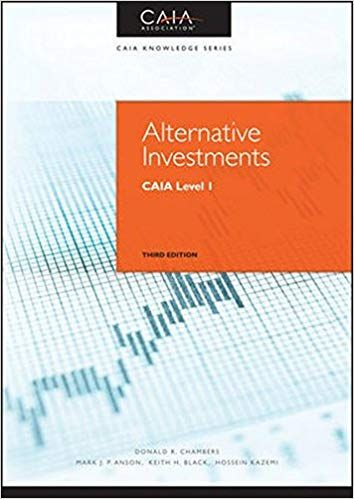 Alternative Investments Caia Level I 3rd Edition By Donald R Chambers Investing Books Finance Books Investing