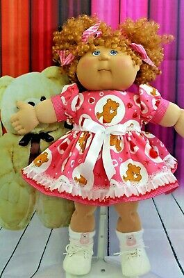 """PRETTY PINK BLOUSE W//LACE TRIM ON COLLAR+SLEEVES for 16/"""" CPK Cabbage Patch Kids"""