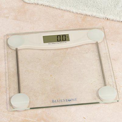 Bluestone Bluestone Digital Glass Bathroom Scale With Lcd Display Glass Bathroom Bathroom Scale Digital Scale Bathroom