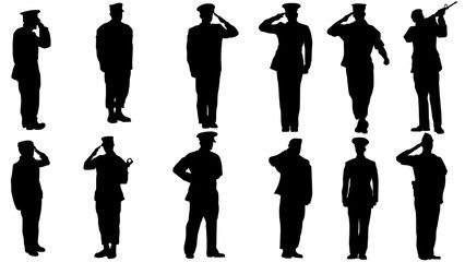 Military Man Salute Silhouette Soldier Silhouette Silhouette Images Silhouette