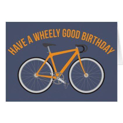Happy Birthday Card For Cyclists And Bike Riders Birthday Diy Gift Present Custom Ideas Verjaardagskaarten Voor Mannen Verjaardagswensen Verjaardag Mannen