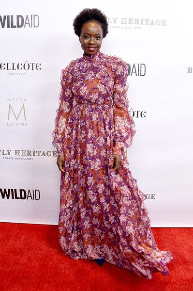 Danai Gurira arrives at An Evening in China with WildAid at the Beverly Wilshire Four Seasons Hotel.