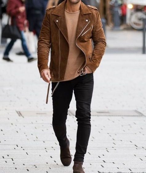 Mens Tan Brown Suede Biker Jacket, Men Brown Biker Suede Leather Jacket sold by Leather Art Shop more products from Leather Art 2020 on Storenvy, the home of independent small businesses all over the world.