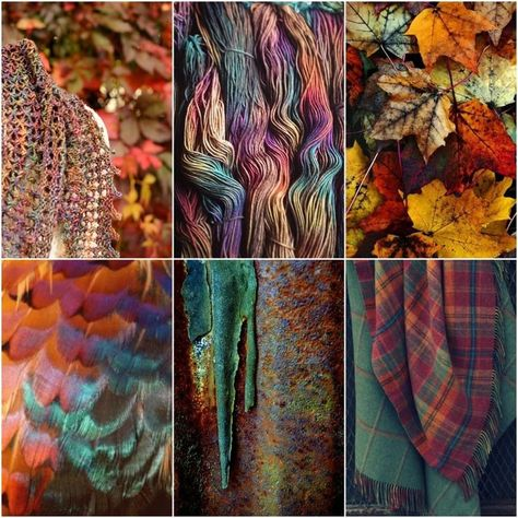 Back to work! #moodboards My Glitz at the Ritz shawl, beautiful Tartan, leaves, feather, rusty door, plaid.