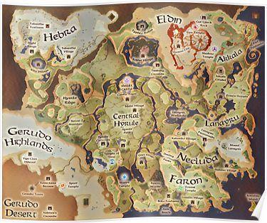 Image result for legend of zelda twilight princess world map