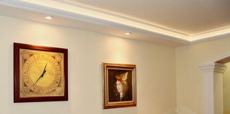 Wohnzimmer Schlafzimmer LED Stuckleisten Styroporstuck