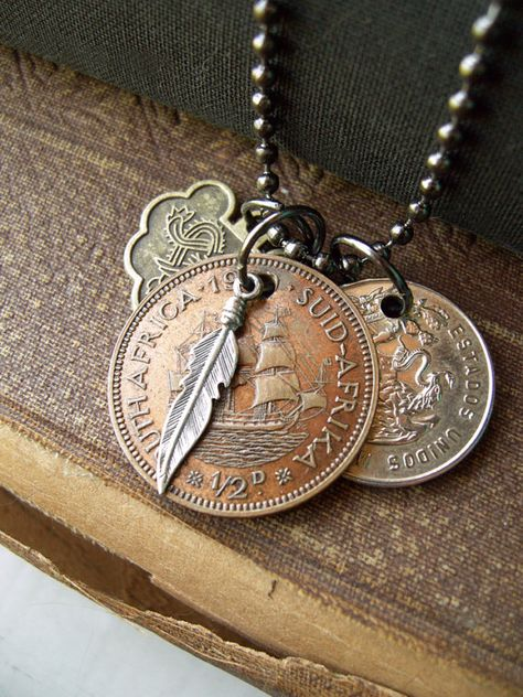 silver color Sailboat bangle Bahama 25 cent coin cut coin jewelry boating charm bracelet