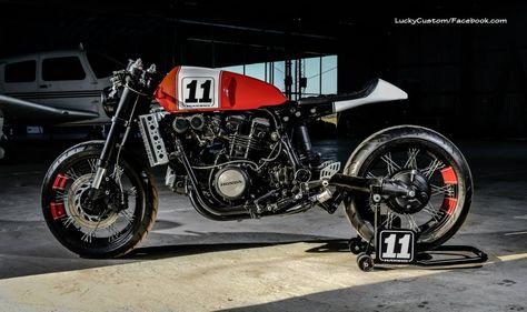 Honda Vf750 Cafe Racer By Lucky Custom Cafe Racer Bikes Custom