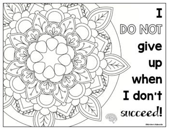 Growth Mindset Coloring Pages Growth Mindset Affirmations Mindful Coloring Growth Mindset Affirmations Coloring Pages