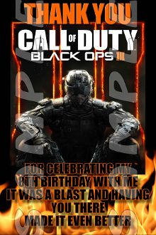 154 best call of duty black ops 3 birthday invitations and party call of duty black ops3 4x6 thank you notes with envelopes party filmwisefo