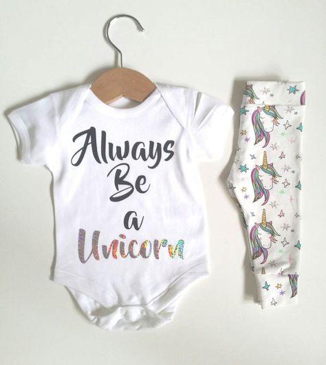 7522e82f5 US Stock Newborn Unicorn Baby Romper Long Pants Leggings Outfits Clothes  Set | eBay