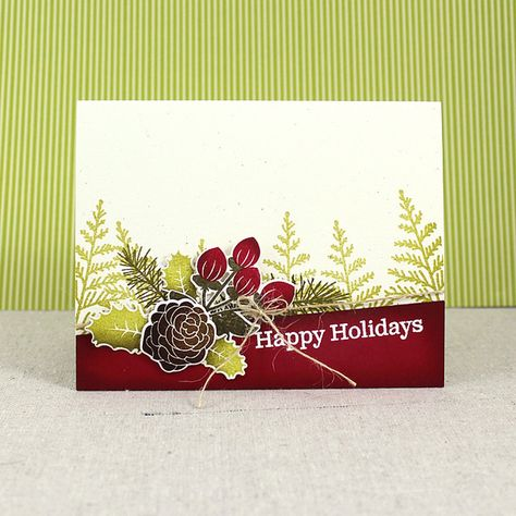 Happy Holidays Card by Lizzie Jones for Papertrey Ink (September 2016)