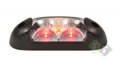 Breedtelamp Rood Wit En Oranje 12 Tot 24 Volt Ledlamp Led Verlichting Oranje