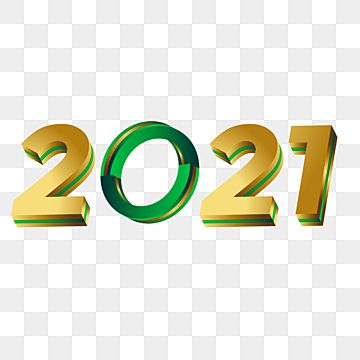 Simple Text 2021 With A Futuristic Green And Gold Concept 2021 2021 Text 3d Vector Png And Vector With Transparent Background For Free Download Happy New Year Text Green And Gold Leaf Illustration