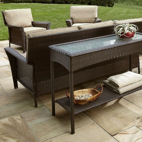 7 Outdoor Console Table Ideas, Patio Sofa Table