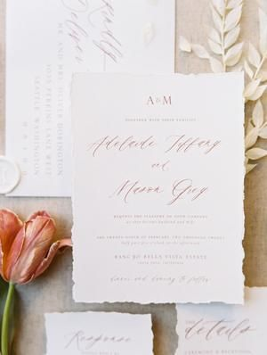 Modern Elegant California Wedding Inspiration At Rancho Bella Vista Wedding Invitation Inspiration Original Wedding Invitations Affordable Wedding Invitations