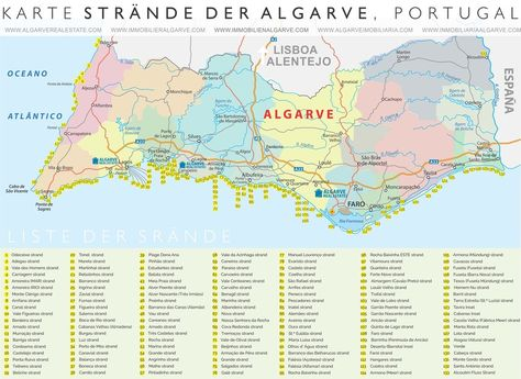 Download Map In Pdf Format Herealgarve Beach Mapdie Strande Karte